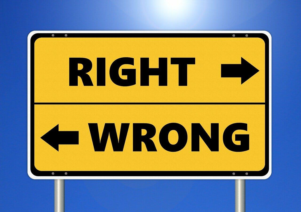 Was gesellschaftlich richtig und was falsch ist